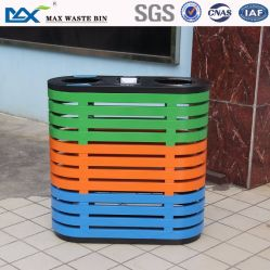 Customized Public Stainless Steel 3 Container Storage Waste Recycle Trash Bin