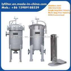 Factory Wholesale Stainless Steel Bag Water Filter Housing for Industrial Water Filtration