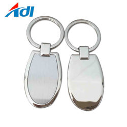 Promotional Promotion Items Souvenir Decoration Gifts Wholesale Company Zink Alloy Metal Engraving Laser Sublimation Logo Blank Round Keychain for Cars