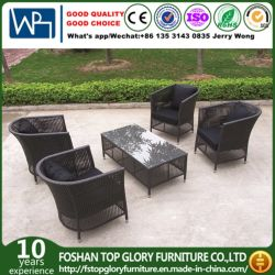 Outdoor Rattan Sofa For Garden With Steel Pipe SGS (TG JW52)