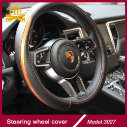 New Carbon Fiber Leather Steering Wheel Cover Car Accessory