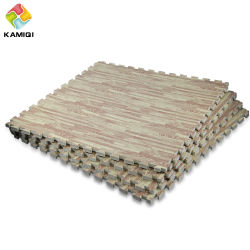 Wood Grain Mats High Quality Kamiqi Eva Foam Jigsaw Puzzle New Design