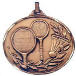 Promotional Award Gold Badminton Medal Presentation Box Promotions Round