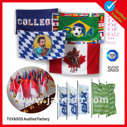 Custom Cheap Outdoor Advertising Screen or Full Color Sublimation Digital Printed Sports Football Custom Flag