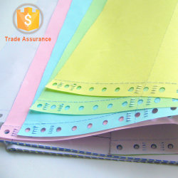 Color Carbonless Paper Stack Form NCR for Super Market Cashier