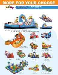 Inflatable attractive 3 lanes Water Slide inflatable bounce slide with pool for kids