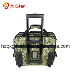 2018 Hot Sale Camo Color Tool Bag Trolley Rolling Bag with Tension Bar and Wheels