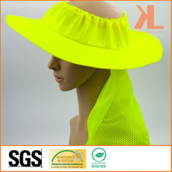 b46c28905fa 100% Polyester Neon Yellow Mesh Bucket Hat with Reflective Piping