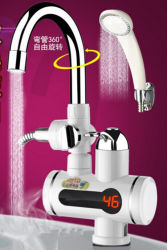 Instant Hot Water Tap Faucet/Shower Combined, LED Digital Temperature Display Kitchen Hot Cold Water Instant Electric Water Heater Tap