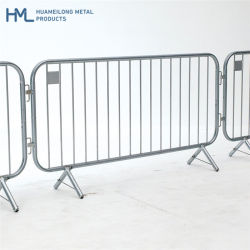 Police Traffic Security Pedestrian Safety Event Metal Steel Road Crowd Control Fence Line Barriers