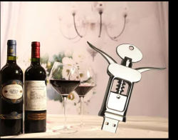 New Product Wine Bottle Opener Shape USB Flash Disk of High Quality /Factory Manufacture