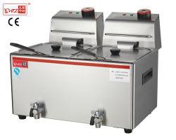 Double Commercial Deep Fryer/Continuous Fryer/Potato Chips Fryer Machine Price