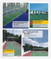 Polyurethane Adhesive Sports Flooring Materials for Basketball/Volleyball/Badmiton Court