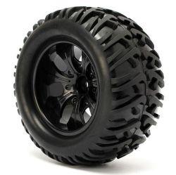 4PCS 12mm Racing Wheel Rim & Tires Redcat Hsp 1: 10 Monster Truck RC on-Road Car Parts 12mm Hub 88005