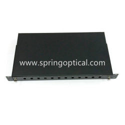 12/24 Cores Fiber Optical Patch Panel/1u Rack Mount/ Sheet Metal /Drawer Type