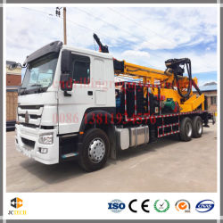 Truck Mounted Hydraulic DTH Air and Mud Pump Farm Water Well Deep Borehole Drilling Rig Machinery Equipment
