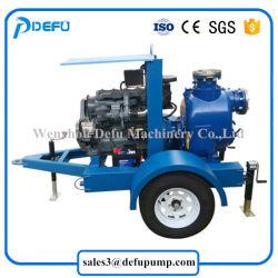 High Capacity Sewage Transfer Diesel Engine Slurry Pump with Trailers