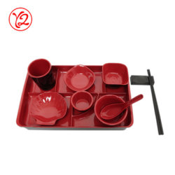Factory for Sale Elegance porcelain Like Melamine Dinnerware Set with Matching Serving