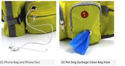 Pet Training Sports Waterproof Running Waist Bag with Water Bottle