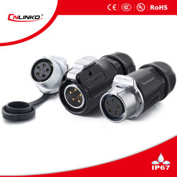 IP67 Round connector / 5 Pin Waterproof Connector for Street Lamp Lighting