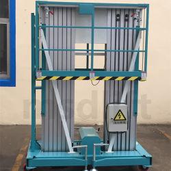 Hydraulic Lifting Platform Mast Type Aluminum Alloy Lift Gtwy6/8/9/10/12 M-200s Aluminum Lifting Table