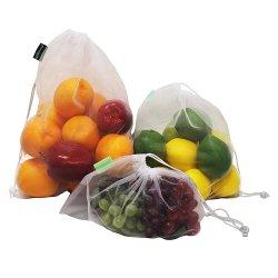 Drawstring Mesh Bag Fresh Fruit Produce Bags Promotional Gift Net