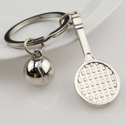 Tennis Racket, Keychain Key Ring, Men's Key Chain Pendant, Advertising Business Sports Gifts, Lettering Logo