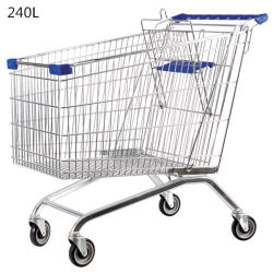 Wholesale Supermarket Metal Grocery Shopping Cart Trolley
