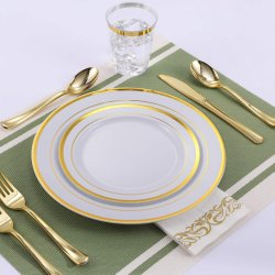 Disposable Heavy Duty Plastic Plates for Party Wedding