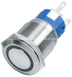 19mm Ring LED 12V Green Lacthing Laser-Able Push Button Switch