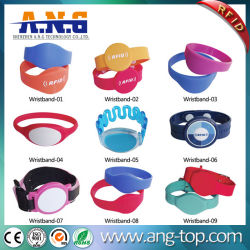 13.56MHz RFID Silicone Wristband with LED Light for Waterparks