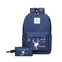 Leisure Cute Outdoor Canvas Backpack for Travel, School, Hiking