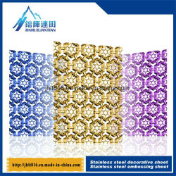 Embossed Hollow Titanium Board 201 Color Stainless Steel Decorative Plate