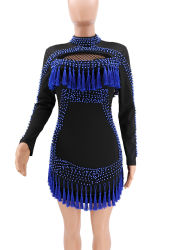 Women's Wear High-End Fashion Beaded Hollow Tassel Evening Party Dresses