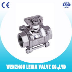 Excellent Ball Valve Supplier - 2PC 150lbs Flange Ball Valve with Mounting Pad