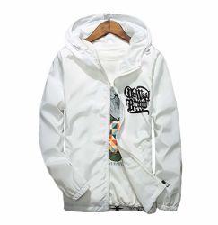 Men's Waterproof Print Hoodie Hip-Pop Lightweight Windbreaker Jacket Streetwear