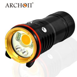 Archon Wm26 5200 Lumen Professional Video Light 1600 Lumen White Spot Light 300 Lumen Red LED 9W Blue LED Two-in-One Diving Spot Video Light with Ys-24 Mount