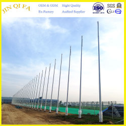 Tapered Outdoor Customizable Stainless Steel Flagpole for School or Hotel