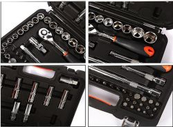 58PCS CRV Sockets Wrenches Hand Tool Set for Auto Promotion