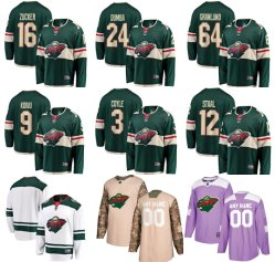 Minnesota Wild Fanatics Branded Custom Breakaway Custom Hockey Jersey