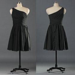 b08a541631fa5 Girls One Shoulder Short Homecoming Dresses Little Black Dress E110