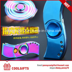 S Shape Colorful Lights Electric USB Charged Hand Spinner Cigarette Lighter