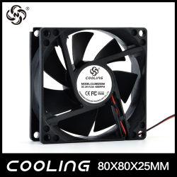 Cooling Axial Flow Fan 80X80X25mm 3.3V 5V 12V 24V Small Mini DC Motor Fan Factory Good Price