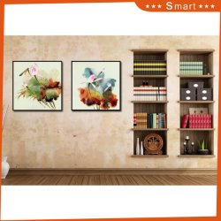 American Vintage Industrial Style Canvas Fabric Painting Picture Frame to Hang on The Wall of The Wine Coffee Bar Decoration