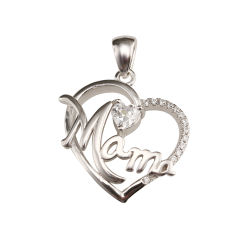 f45b0529b Wholesale 925 Sterling Silver Jewelry Heart Necklace Custom Pendant for Mom