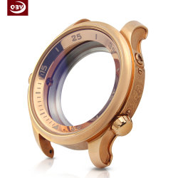 Customized Precision Electroplated Rose Gold Stainless Steel Watch Case