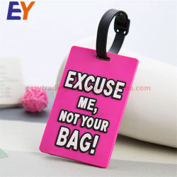 Travel Plastic Cute Personalized PVC Name Tag for Luggage