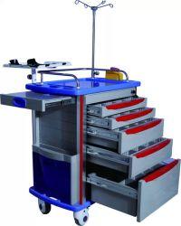 ABS Hospital Medical Emergency Trolley Cart Hospital Furniture (Slv-85001b)