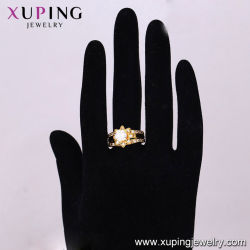 14303 Fashion Wholesale Cubic Zirconia Jewelry 24K Gold Color Gemstone Ring for Women