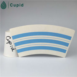 Hztl Nature Cup PE Coated Disposable Cup Paper Fan/ Paper Sheet Various Sizes